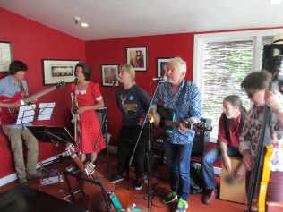 In action at the Kelburn Village Pub.