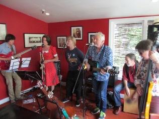In action at the Kelburn Village Pub.