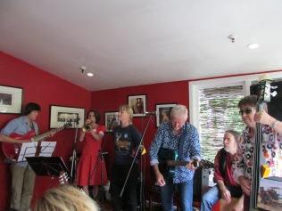 Big ending for a song at the Kelburn Village Pub.