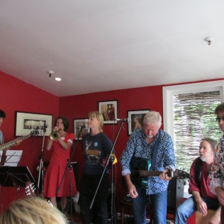Big ending for a song at the Kelburn Village Pub.
