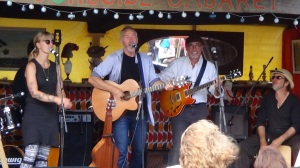 Playing the Curbside Cabaret Band at the fair.