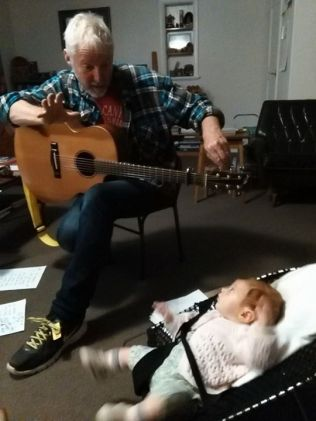 Trialing a new back up singer for the band at Jessie's house. Irihepiti is very keen.